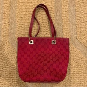 Gucci red tote bag